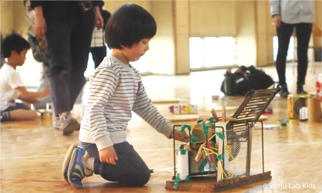 「キッズ・手作り楽器・チャレンジ」